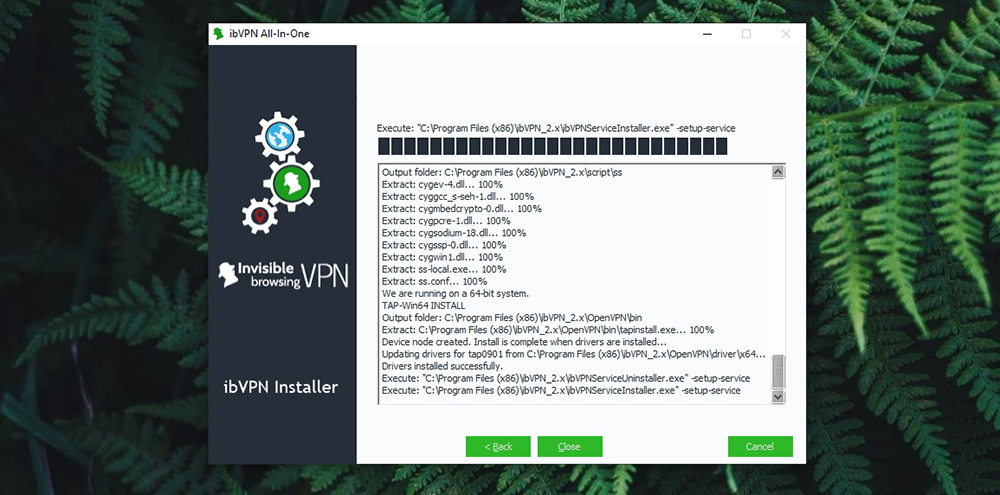 ibVPN Review - Installation Progress