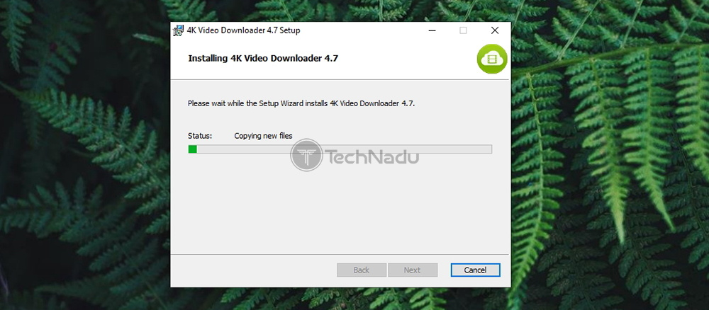4K Video Downloader Installation Progress
