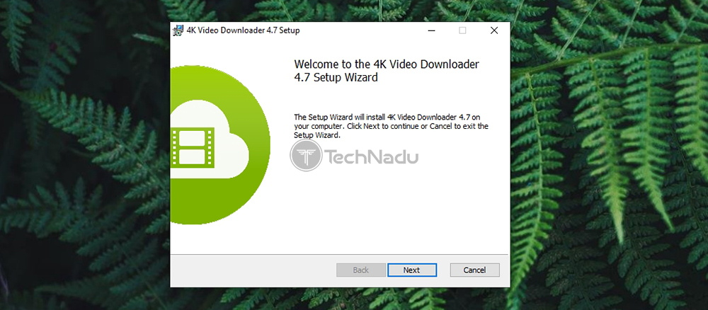 4K Video Downloader Installation Wizard