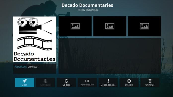 Decado Documentaries Kodi Addon