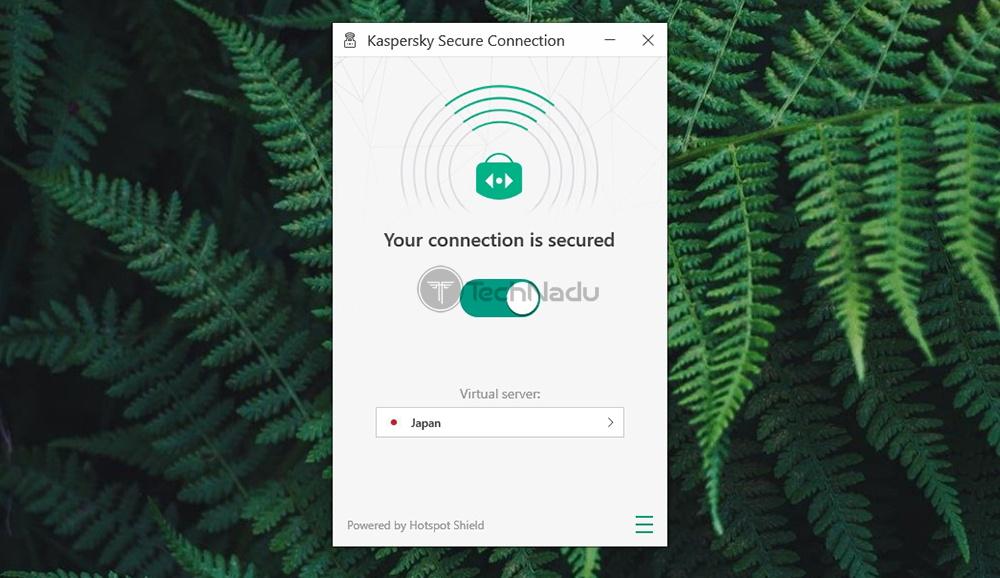 Kaspersky Secure Connection Connection Established