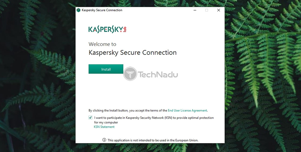 Kaspersky Secure Connection Installation Wizard