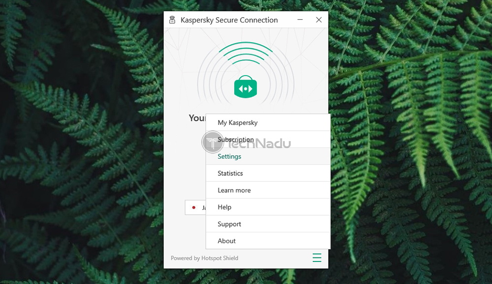 Kaspersky Secure Connection Settings