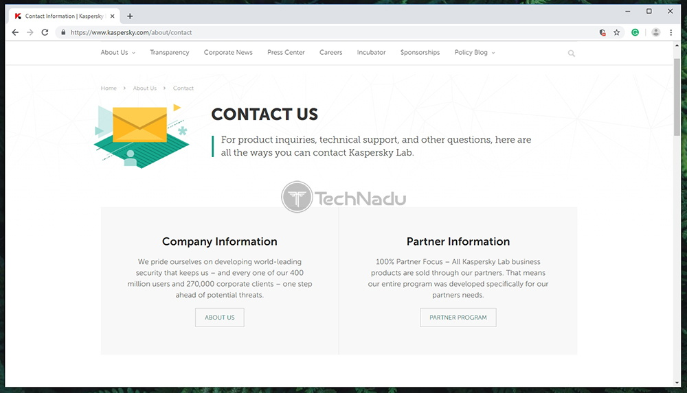 Kaspersky Secure Connection Support