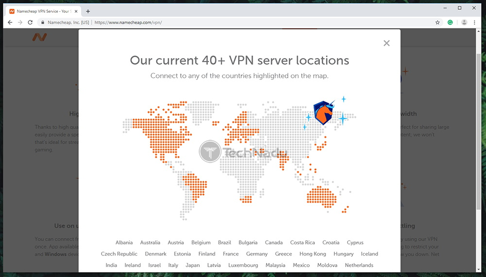 Namecheap VPN Server Count