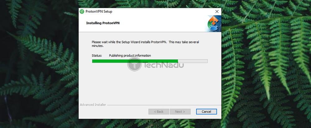 ProtonVPN Installation Progress