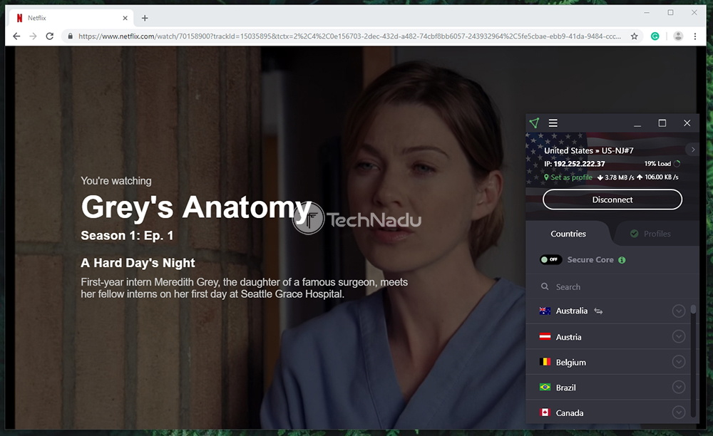 ProtonVPN Netflix Streaming