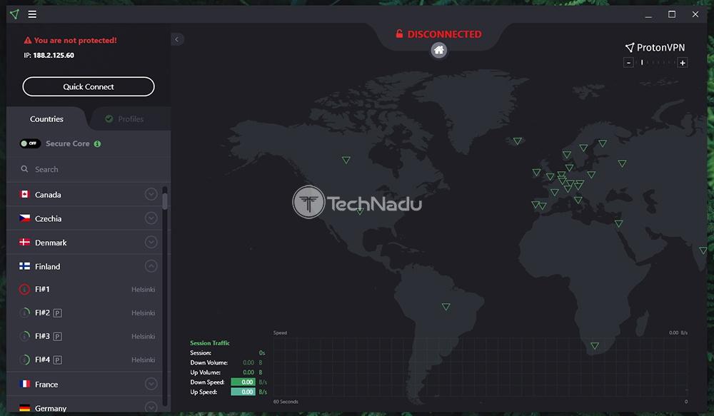 ProtonVPN Server Selection