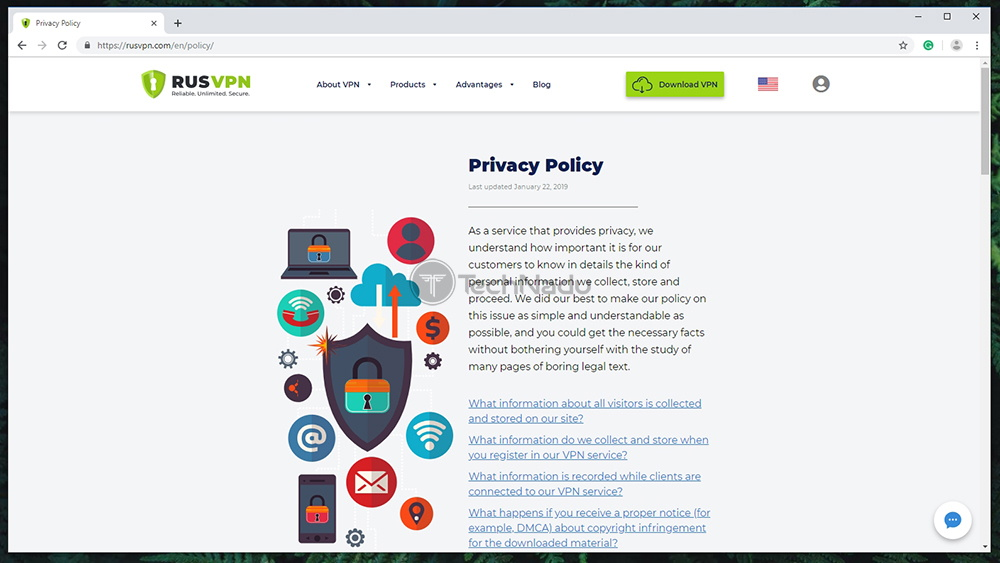 RUSVPN Privacy Policy