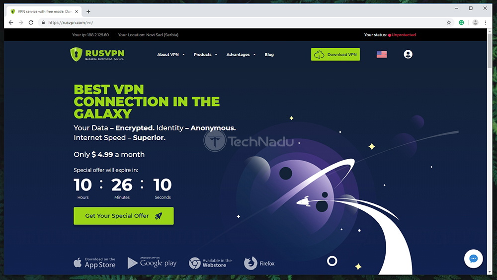 RUSVPN Website