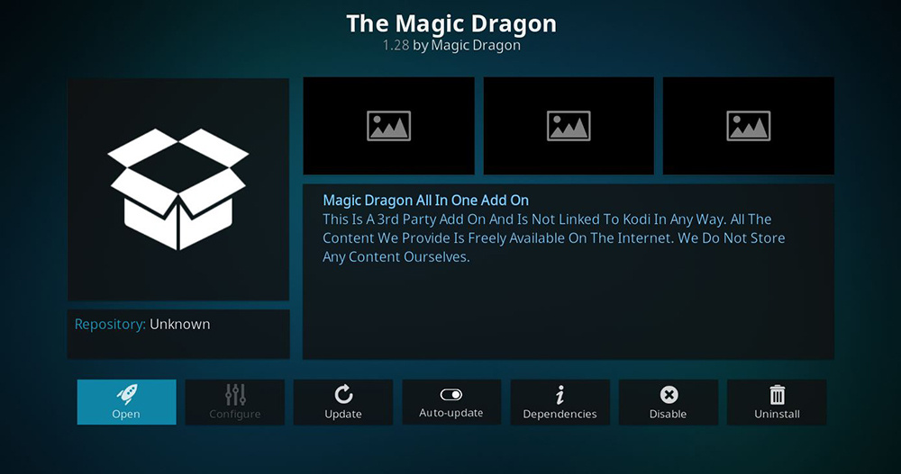 The Magic Dragon Kodi Addon Overview