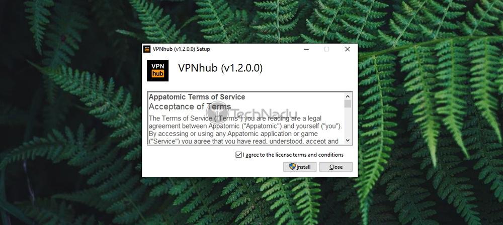 VPNhub Installation Wizard