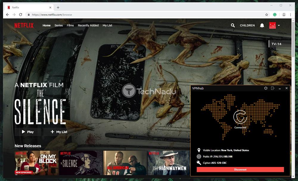 VPNhub Netflix