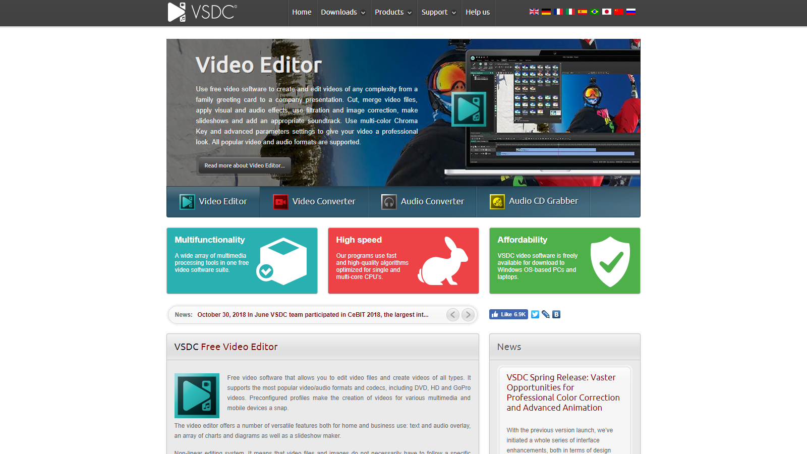 Website of the VSDC Free Video Editor Compromised to Push