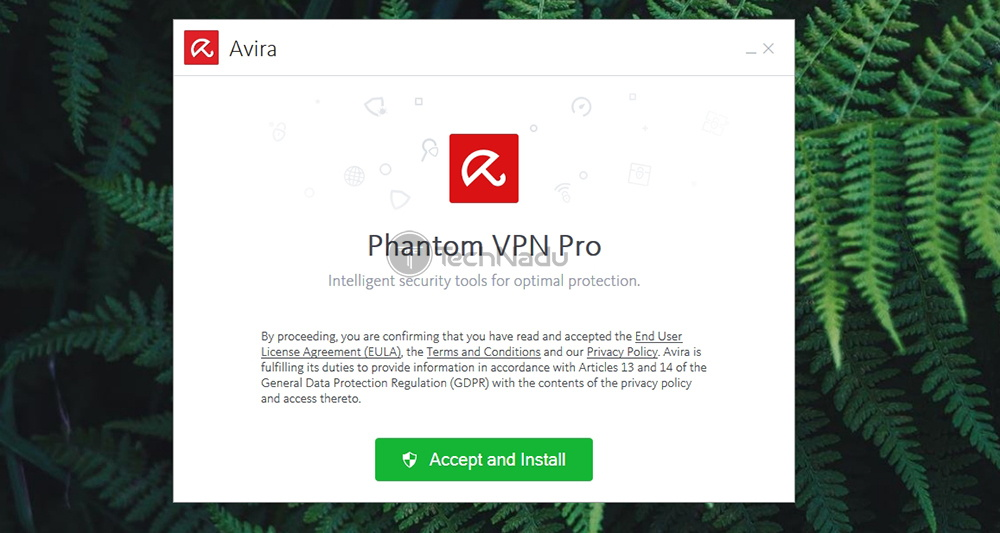 Avira VPN Installation Welcome Screen