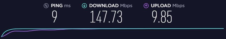 Baseline Speed Without VPNArea