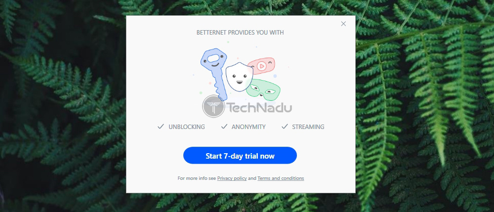 Free Trial Betternet
