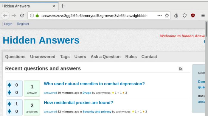 Hidden Answers Screenshot