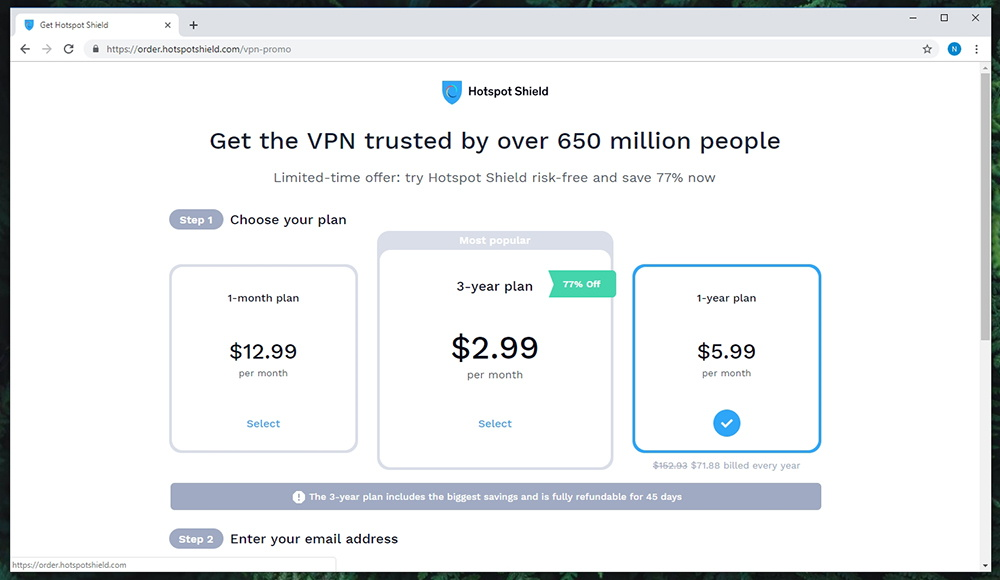 Hotspot Shield Premium Pricing