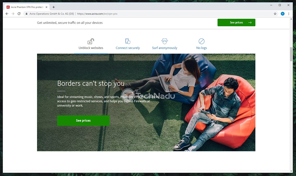 Prominent Features of Avira Phantom VPN Pro