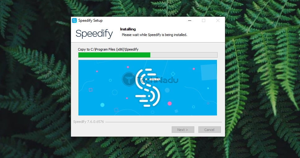 Speedify Installation in Process
