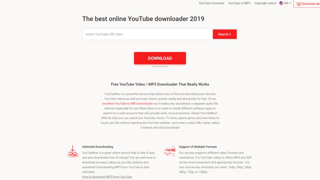 youtubnow.com website