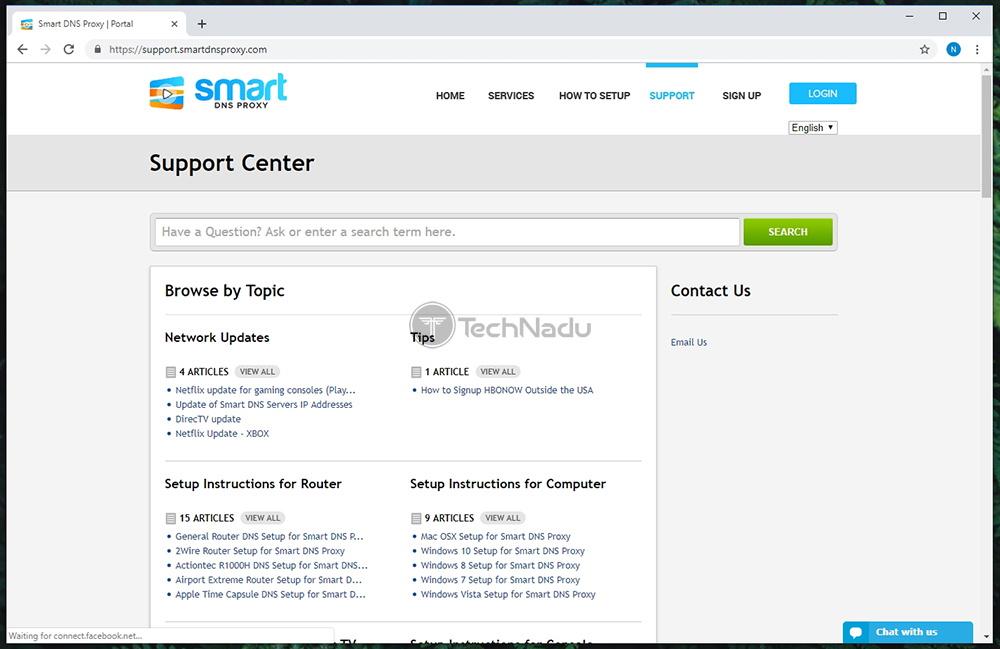 Customer Support Portal Smart DNS Proxy VPN