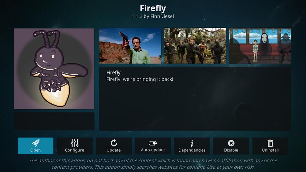 Firefly Kodi Addon