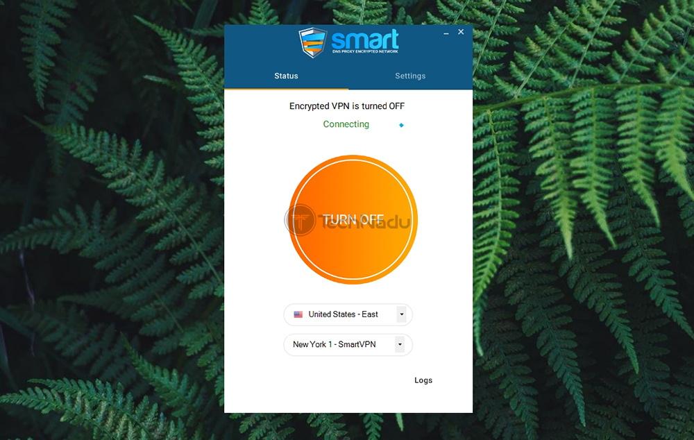 Home Screen UI Smart DNS Proxy VPN