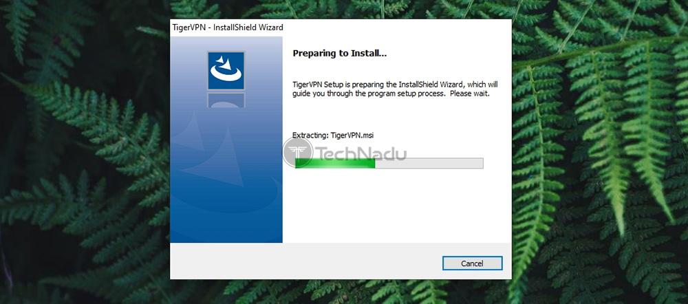 Installation Screen of TigerVPN
