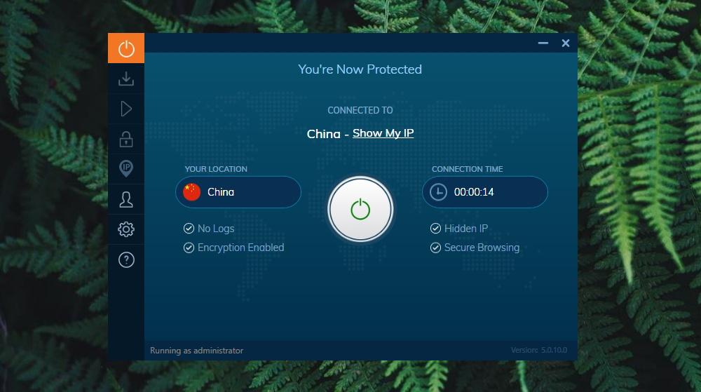 IvacyVPN Chinese IP Address