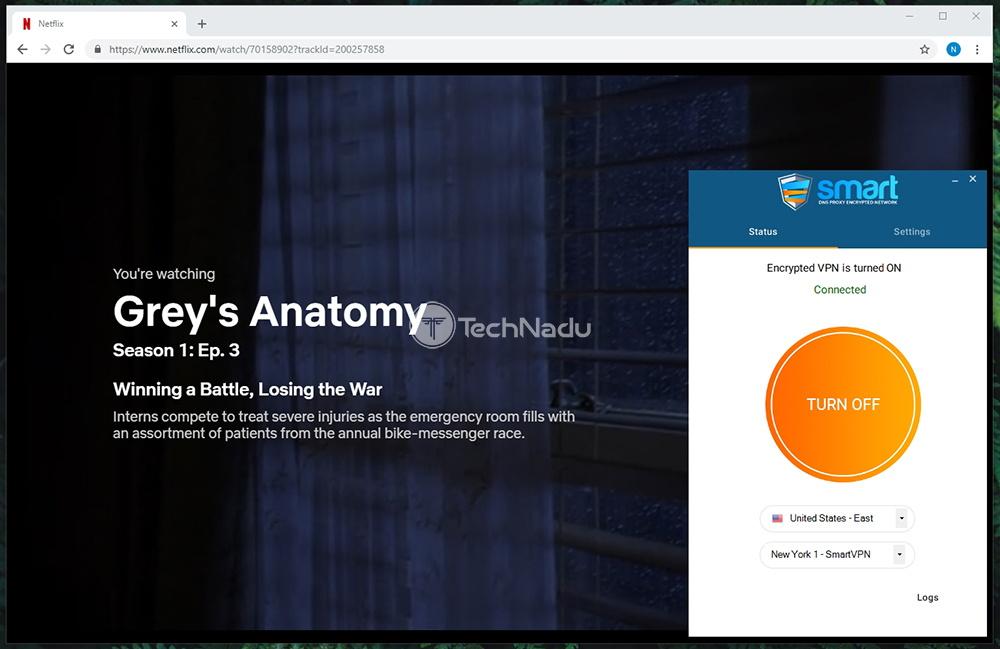 Netflix Streaming In Progress Smart DNS Proxy VPN
