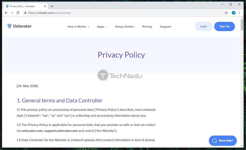 Privacy Policy Unlocator VPN