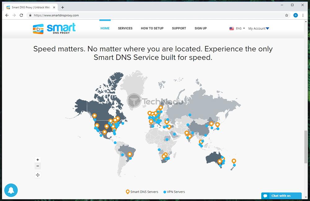 Server Selection of Smart DNS Proxy VPN