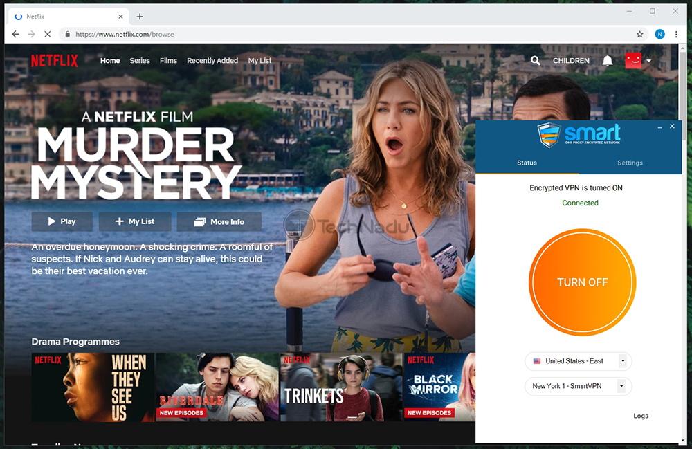 Smart DNS Proxy VPN Unblocks Netflix