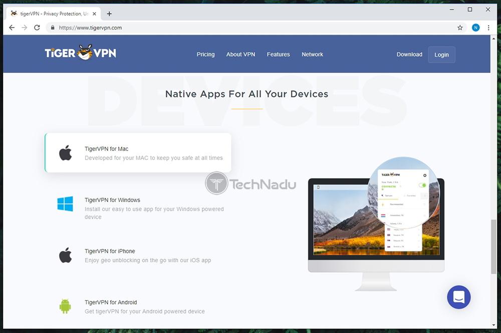Supported Platforms TigerVPN