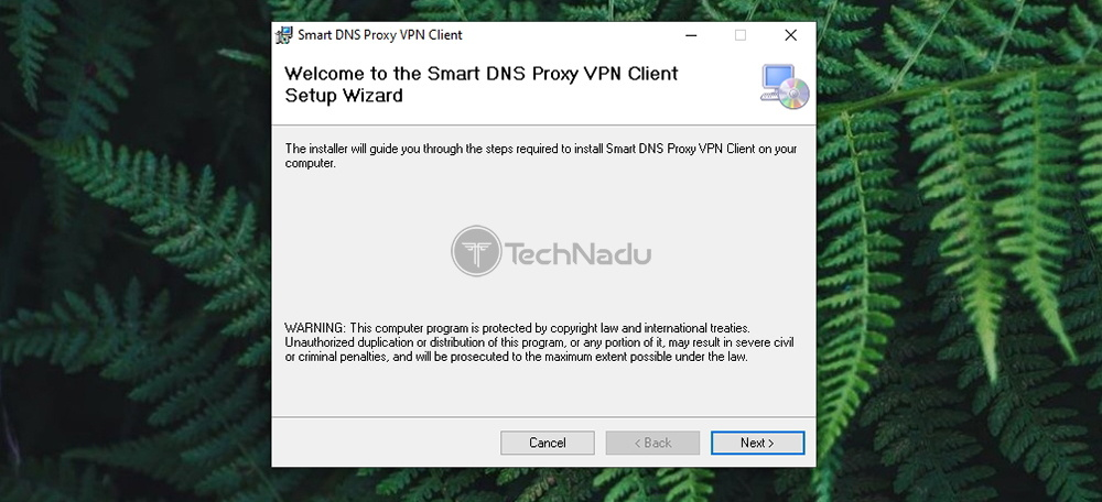 Windows Installation of Smart DNS Proxy VPN