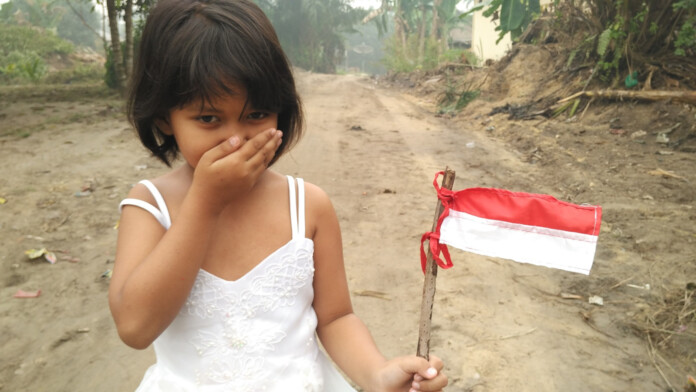 Indonesian Child Flag Censorship