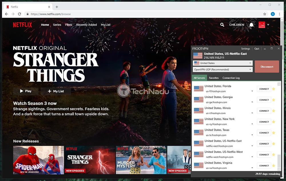 FrootVPN Unblocks Netflix