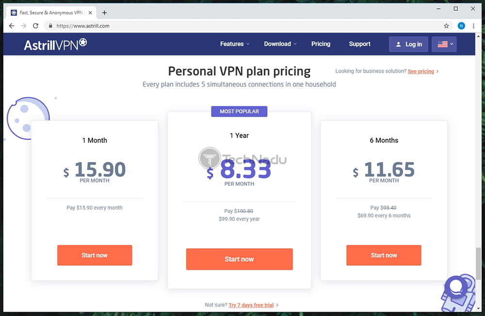 Link to Astrill VPN Pricing Page