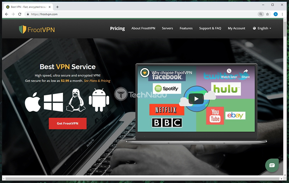 Link to FrootVPN Website