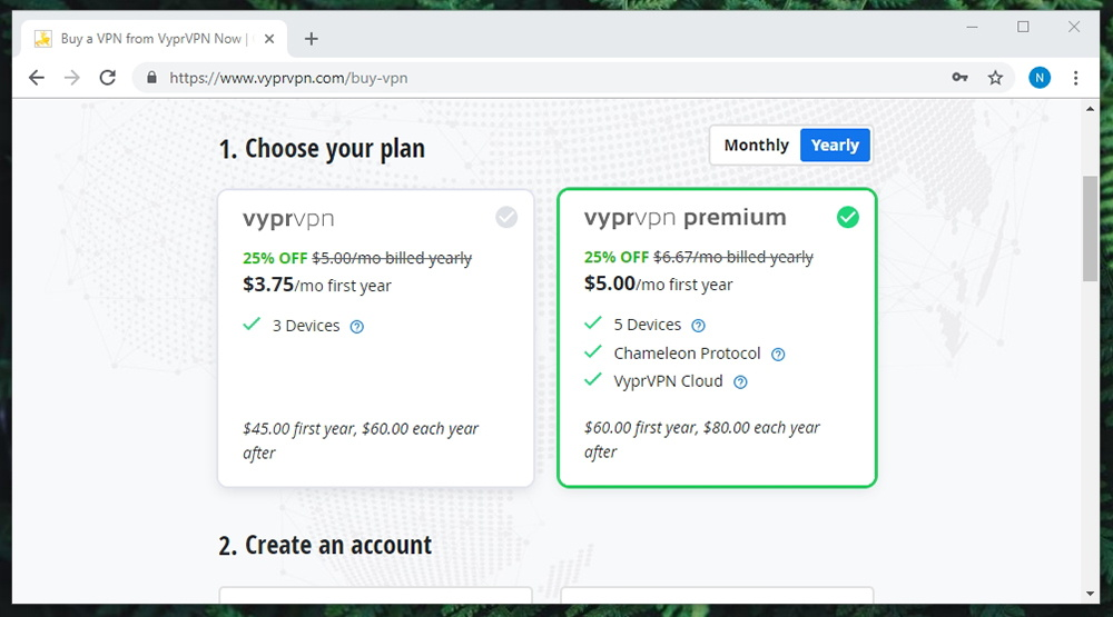 Link to VyprVPN Pricing Page