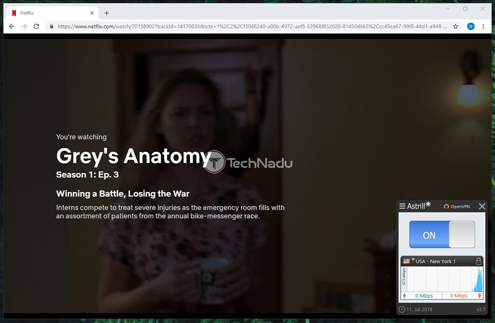 Netflix Streaming via Astrill VPN