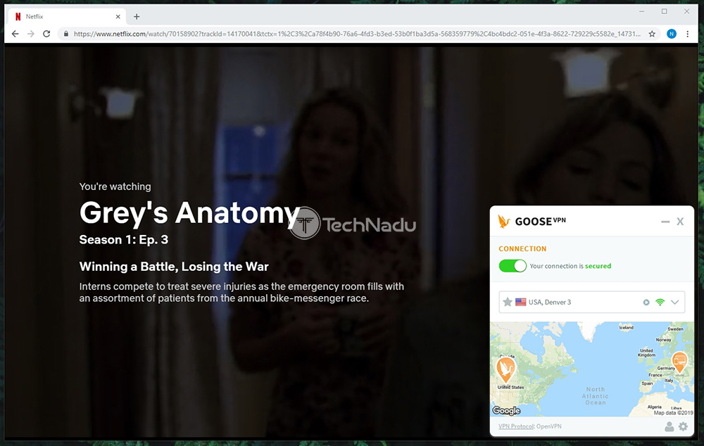 Netflix Streaming via Goose VPN