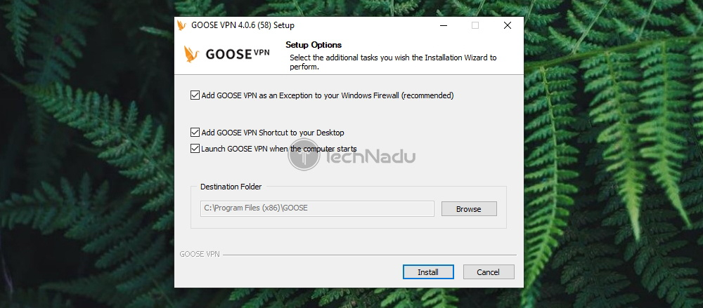 Second Installation Step Goose VPN