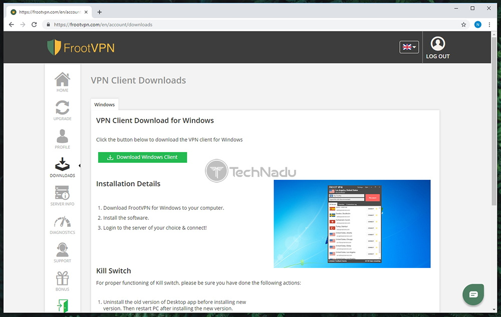 Supported Platforms FrootVPN