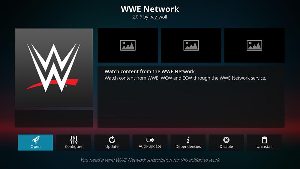 WWE Network Kodi Addon