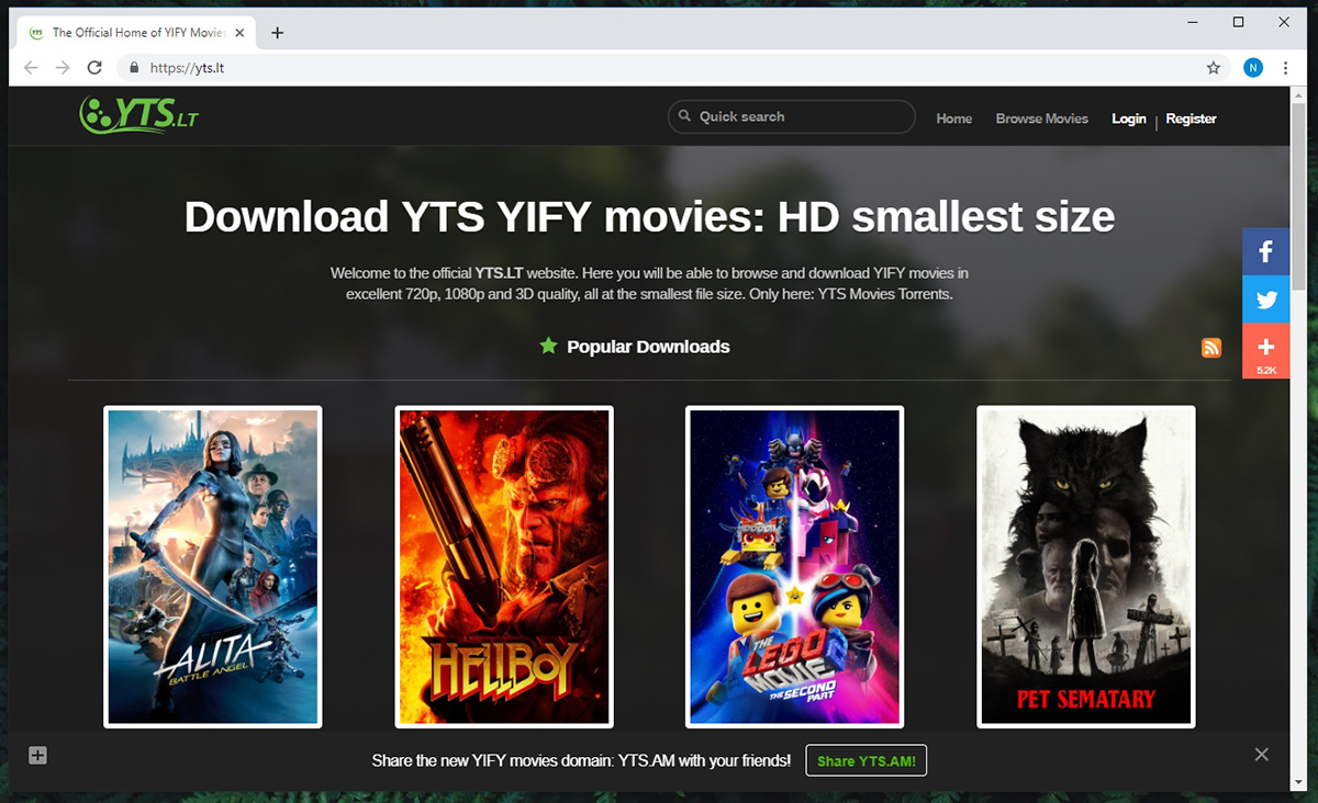 YTS Torrent Website