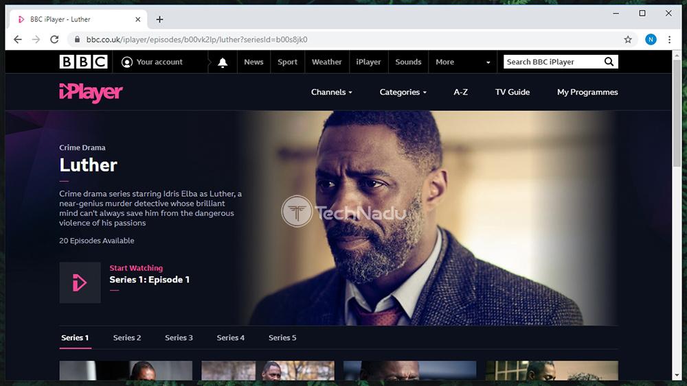 BBC iPlayer Streaming via Encrypt.me