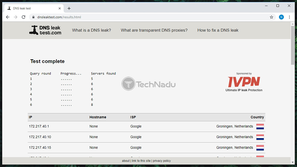 Encrypt.me Passes DNS Leak Test